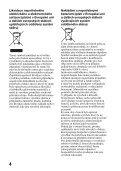Sony SLT-A65VY - SLT-A65VY Consignes d'utilisation Tchèque - Page 4