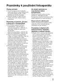 Sony SLT-A65VY - SLT-A65VY Consignes d'utilisation Tchèque - Page 7
