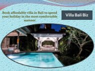 Book affordable villa in Bali to spend your holiday in the most comfortable manner