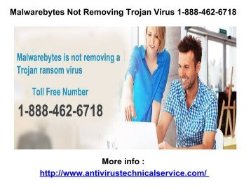 Malwarebytes Not Removing Trojan Virus 1-888-462-6718