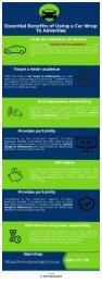 Essential Benefits of Using a Car Wrap To Advertise - Infographic