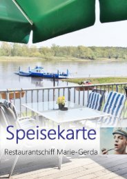 Speisekarte Schiffsrestaurant Marie Gerda