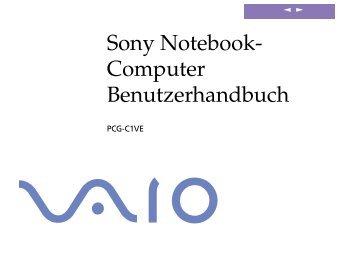 Sony PCG-C1VE - PCG-C1VE Istruzioni per l'uso Tedesco