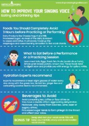 Eating And Drinking Tips To Improve Your Singing Voice