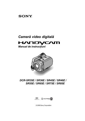 Sony DCR-SR65E - DCR-SR65E Mode d'emploi Roumain