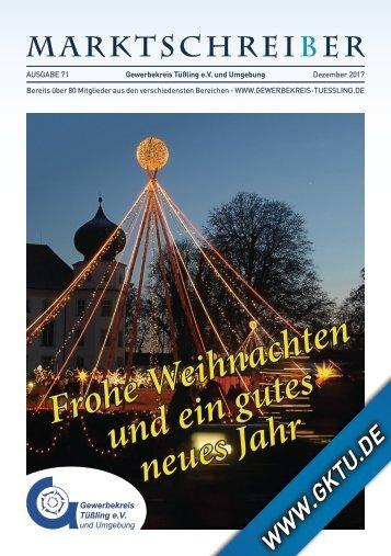 Marktschreiber Ausgabe 71 - Dezember 2017