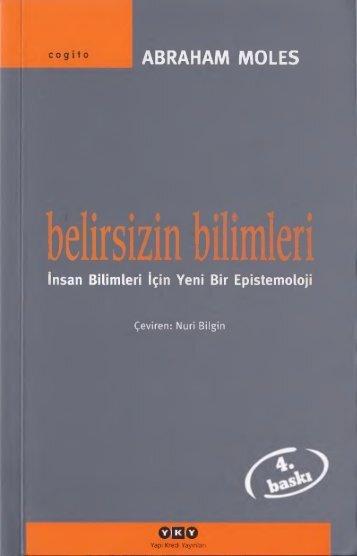 BELİRSİZİN BİLİMLERİ - ABRAHAM MOLES(1)