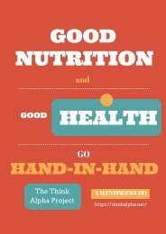 Good Nutrition And Good Health Go Hand-In-Hand