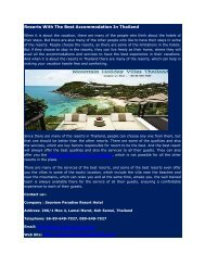Resorts With The Best Accommodation In Thailand