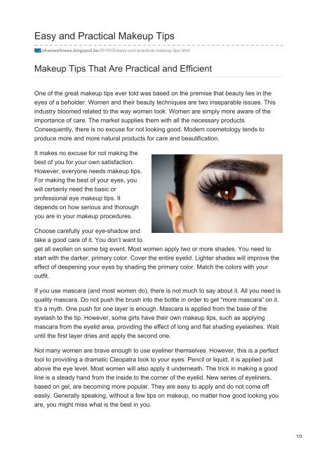 Easy And Practical Makeup Tips