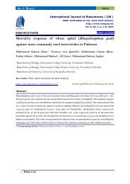 Mortality response of wheat aphid (Rhopalosiphum padi) against most commonly used insecticides in Pakistan
