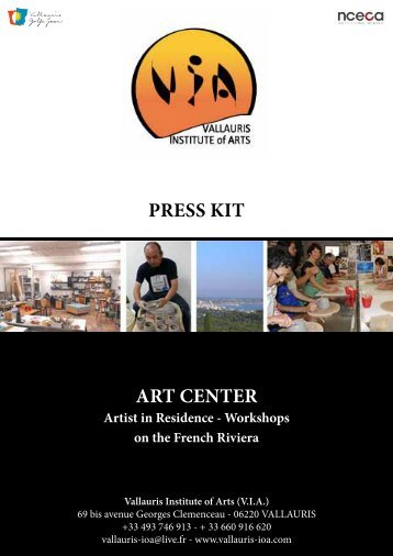 ART CENTER PRESS KIT - Vallauris Institute of Arts