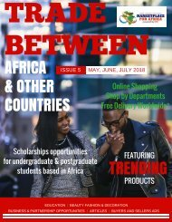 Trade Between Africa & Other Countries Magazine Issue 5  20 May 2018