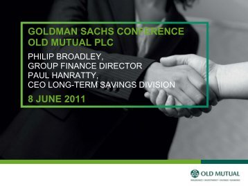 GOLDMAN SACHS CONFERENCE OLD MUTUAL PLC 8 JUNE 2011