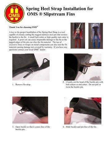Spring Heel Strap Installation for OMS ® Slipstream Fins