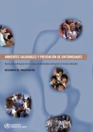 Ambientes saludables y prevención de enfermedades