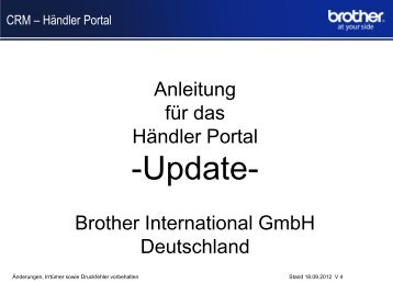 ID Sample Presentation - Brother International GmbH
