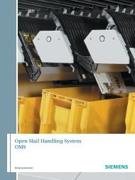 Open Mail Handling System OMS - Siemens Mobility
