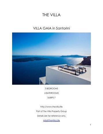 Villa Gaia - Santorini
