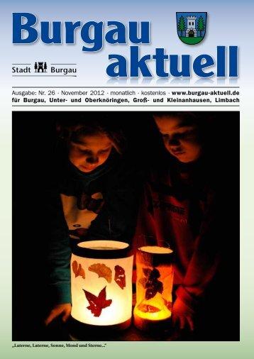 Ausgabe: Nr. 26 · November 2012 · monatlich ... - Stadt Burgau