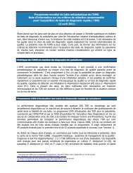 Programme mondial de lutte antipaludique de l'OMS Note d ...
