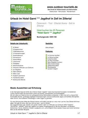 Urlaub im Hotel Garni *** Jagdhof in Zell im Zillertal - Outdoor-Touristik
