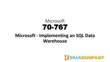 Microsoft 70-767 Dumps Questions