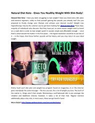 Natural Diet Keto Reviews - Burn Your stubborn Fat Quickly!