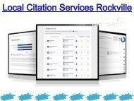 Local Citation Services Rockville