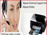 +1 800-213-8289 Nipson Technical Support