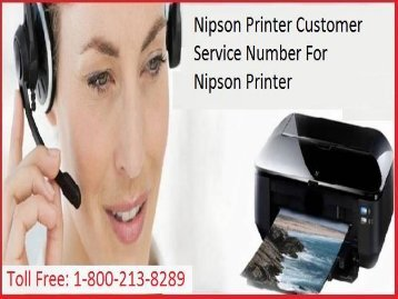 +1 800-213-8289 Nipson Printer Customer Service Number