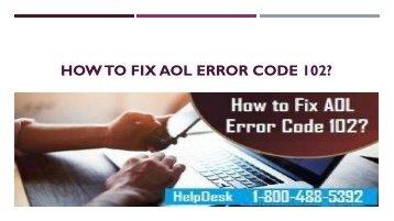 1-800-488-5392 Fix AOL Error Code 102