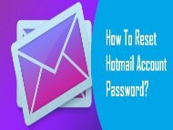1-800-361-7250 | Reset Hotmail Account Password