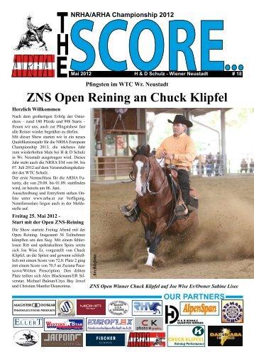 ZNS Open Reining an Chuck Klipfel - Western Star
