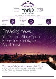 TalkTalk York's Ultra Fibre Optic Newsletter May 2018 - Holgate South