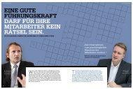 Eine gute Führungskraft darf für ihre Mitarbeiter kein Rätsel sein - Interview mit Dr. Christian Abegglen und Markus Franz