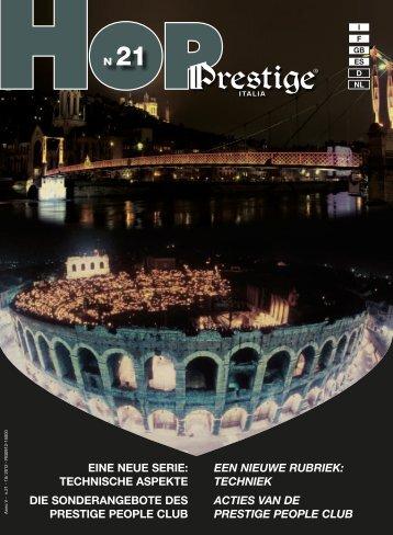 een nieuwe rubriek - Prestige Italy