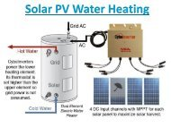 Solar PV Water Heating