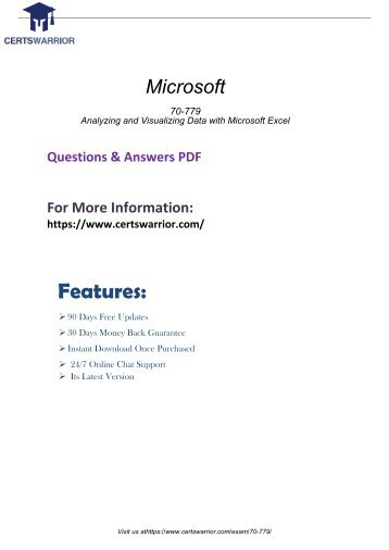 70-779 Real Exam Questions 2018
