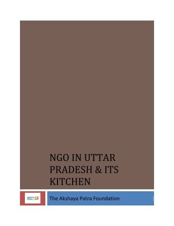 NGO in Uttar Pradesh and Its Kitchen