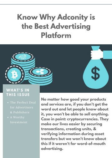 The Perfect Deal for Advertisers & Publishers