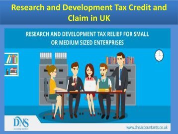Research and Development Tax Credit and Claim in UK