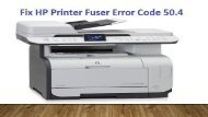 Dial 1-800-597-1052 Fix HP Printer Fuser Error Code 50.4