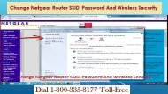 18003358177 Change Netgear Router SSID, Password And Wireless Security