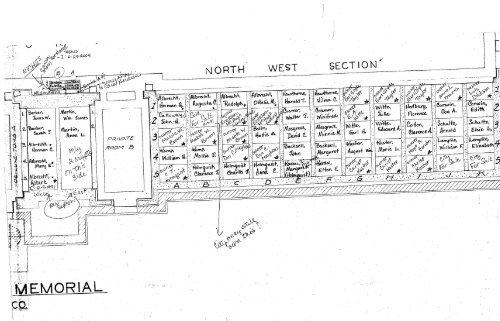 Kewanee Illinois Map.Mausoleum Map City Of Kewanee Illinois