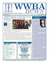 WWBA May 2018 Newsletter