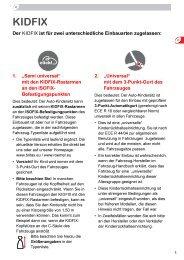 KIDFIX - BRITAX RÖMER Child Safety