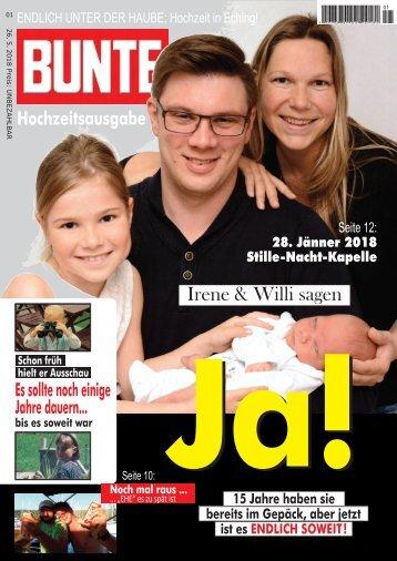 Hochzeitszeitung Irene und Wilfried 2018