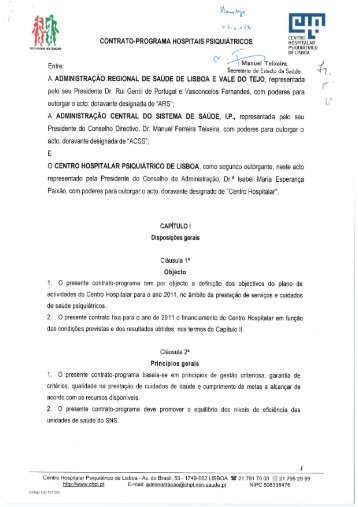 Centro Hospitalar Psiquiátrico de Lisboa - ACSS