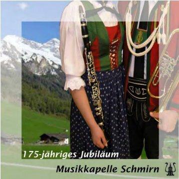 Festschrift der Musikkapelle Schmirn